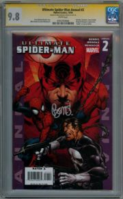 Ultimate Spider-man Annual #2 CGC 9.8 Signature Series Signed Brian Bendis Punisher Marvel comic